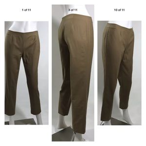 $420 LAFAYETTE 148 CROPPED ANKLE PANTS SIZE 0